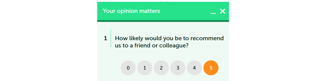 survey widgets NPS question